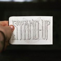 Stand up✨ . From a beautiful lettering by @goshawaf __ ✔️Featured by @thedailytype #thedailytype ✒️Learning stuffs via: www.learntype.today __