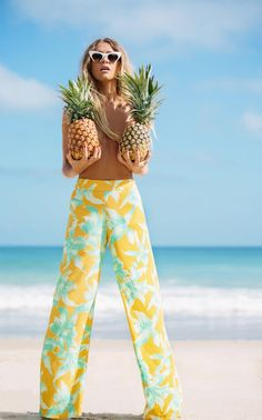 pineapple & palazzo pants