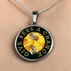 My wife's favorite! Just one of five to choose from... #bees #love #gifts #happy #jewelry
