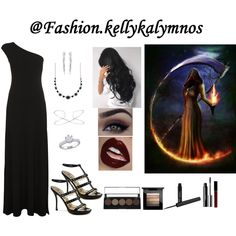 Fashion set Girl of death created via Dress Styles, Eyeliner, Death, Fashion Looks, Engagement Rings, Shopping, Enagement Rings, Wedding Rings, Clothing Styles