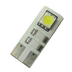 LED SIGNAL BULB T10 2SMD 5050 CANBUS WHITE