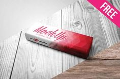 Free Chewing Gum Mock-up in PSD