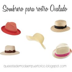 sombrero para rostro ovalado