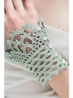 Lace Cuffs designed by Alla Koval. | InterweaveStore.com