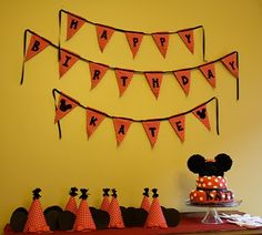 Design Dazzle: Minnie Mouse Party- i so want to replicate this. cath kidston do red spotty aprons as had them for eldests enchanted fairy party.