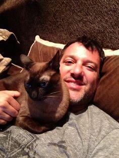 Tony & his cat Wyatt