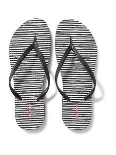 Patterned Flip-Flops for Women