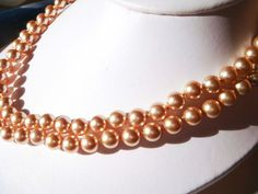 Vintage Kissaka simulated Pearl Necklace by PaganCellarJewelry, $13.99
