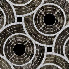 Tile - Deco petite mosaic with nero panthera, calacatta oro and dark emperador | Ann Sacks