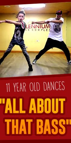 """11 Year Old  Dances """"All About That Bass"""""""