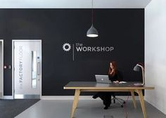 logo on wall logo on wall ` logo on wall office ` logo on wall interior design ` logo on wall ideas Office Workspace, Office Walls, Office Decor, Startup Office, Office Logo, Office Interior Design, Office Interiors, Office Designs, Office Reception Area