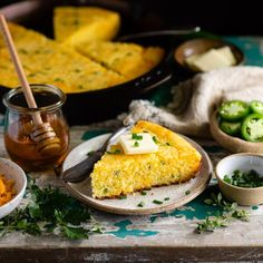 A classic Southern skillet cornbread recipe gets a flavor boost from diced jalapeño pepper, sharp cheddar cheese, and chopped fresh chives! Serve this Mexican Cornbread with a bowl of chili, chicken tortilla soup, or a plate of beef barbacoa. It's zippy (but not too spicy), soft and moist with crispy edges, and perfect with a pat of butter and a drizzle of honey! Skillet cornbread is the perfect last-minute easy side dish. It pairs well with everything from barbecue and ribs to soup, stew…