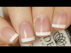 DIY Easy Classic French Manicure Tutorial (no tools required!)    KELLI MARISSA - YouTube