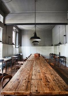 Big distressed timber table - just need to find one or make one - for cafe