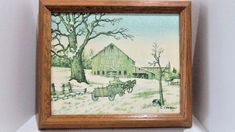 C Carson Framed Art Painting with COA Dated 1994 Coca-Cola Barn in Winter Wagon Horse And Buggy, Vintage Winter, Vintage Type, First They Came, Art Pictures, Coca Cola, Framed Art, Folk Art, Picture Frames