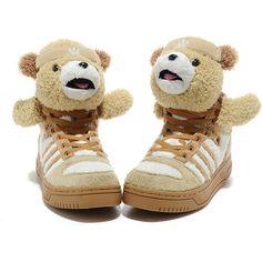 huge discount 7dcf2 92a94 Adidas X Jeremy Scott Teddy Bear Shoes Brown Online