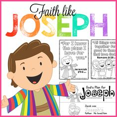 Free Preschool Bible Lessons for Sunday School or Children's Ministry. Perfect for Christian Preschool at Home, or Daycare settings. Faith Like Joseph includes Scripture memory work, story sequencing cards, and a take home early reader. Christian Preschool Curriculum, Preschool Bible Lessons, Bible Lessons For Kids, Bible Activities, Free Preschool, Preschool Printables, Church Activities, Teach Preschool, Preschool Books