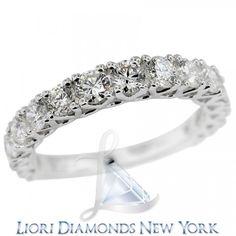 2.25 Carat F-VS Diamond Wedding Anniversary Band 18k White Gold - Rings - Lioridiamonds.com
