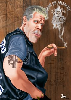 Clay Morrow -sons of anarchy- by Altatoo.deviantart.com on @deviantART