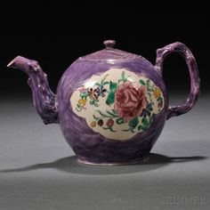 Staffordshire Salt-glazed Stoneware Teapot and Cover, England, c. 1760