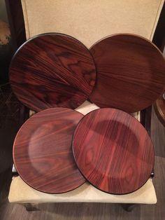 Vintage DANSK Wooden Teak CHARGER 13.5 inches MCM ~ Set Of 4 | Collectibles, Vintage, Retro, Mid-Century, 1960s | eBay!