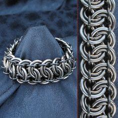 Bracelet - 12 gauge Garter Belt Weave Men's Heavy Duty. $70.00, via Etsy.