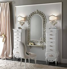Dressing Table Design, Dressing Table Vanity, Bedroom Furniture Design, Home Decor Furniture, Bedroom Vanity Set, Living Room Decor, Bedroom Decor, Muebles Shabby Chic, Home And Deco