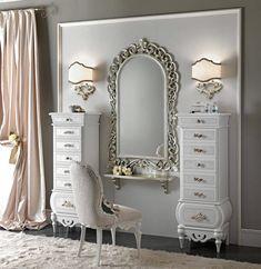 Bedroom Vanity Set, Bedroom Sets, Bedroom Decor, Home Decor Furniture, Furniture Makeover, Dressing Table Vanity, Suites, Home And Deco, Dream Decor