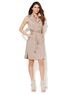 Shop Belted Shirtdress. Find your perfect size online at the best price at New York & Company.