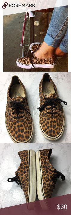 e20cc4c7774 VANS Leopard Print Unisex Sneakers Vans Leopard Print Unisex Sneakers in  good pre own condition Men
