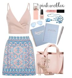 """""""Pink and Blue Summer Day"""" by rasa-j ❤ liked on Polyvore featuring Oasis, Corto Moltedo, Dsquared2, Louis Vuitton, GUESS, OPI and HUGO"""