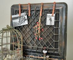 Turn a vintage heat register into a funky clip board: Rustic Crafts & Chic Decor