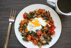 14. Rustic Sweet Potato Breakfast Hash #fiber #breakfast #recipes https://greatist.com/eat/healthy-fiber-breakfast-recipes