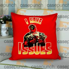 Sr2-marvel Deadpool I Have Issues Cushion Pillow Case