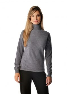 Women's Pure Cashmere Turtle Neck Sweater