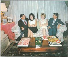 In the White House: (left to right) Benjamin Bradlee, Jackie Kennedy, Toni Bradlee, Jack Kennedy