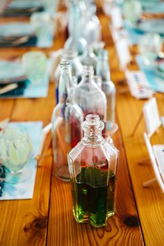 watercolor centerpieces // photo by Angela & Evan Photography
