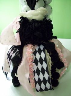 Whimsical Pink and Black Bird Tassel by whimsicalcollections