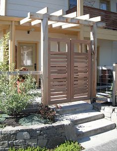 Love the gated entrance, maybe for garden!