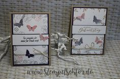 Mini Schmetterling, Savanne, Stampin Up