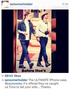 Bros before hoes with Ian and Paul
