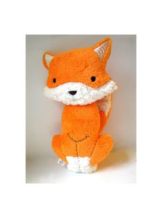 Orange Plush Fox Toy Woodland Stuffed Animal Baby Gift on Etsy, $20.00