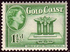 Gold Coast 1952 SG 155 Queen Elizabeth Council Emblem Fine Mint SG 155 Scott 150  Other British Commonwealth Empire and Colonial stamps Here