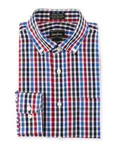 Classic-Fit Non-Iron Check Dress Shirt, Multicolor by Neiman Marcus at Neiman Marcus Last Call.