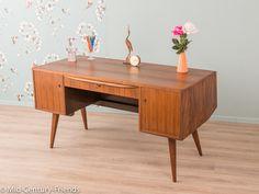 Vintage Kommoden - 50er Schreibtisch, Kommode, Vintage Hellerau, 60er - ein Designerstück von Mid-Century-Friends bei DaWanda
