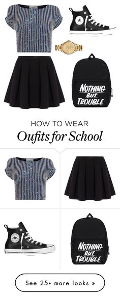 """""""Back To School Outfit Idea #1"""" by gabrielleluy on Polyvore featuring Polo Ralph Lauren, Coast, Converse and Lacoste"""