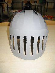 Resultaat van helm vooraanzicht.