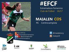 Maialen Cos. Hace fácil lo imposible. Gran técnica y gran golpeo de balón. #EFCF #futfem #Almendralejo #Extremadura #futbol