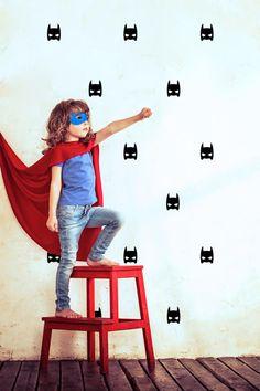 Muurstickers Kinderkamer 'Super hero' zwart van POM (Pöm Le Bonhomme)