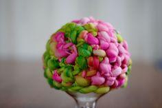 Pink Roses Handspun Merino Newborn Hat by BeautifulPhotoProps, $33.00